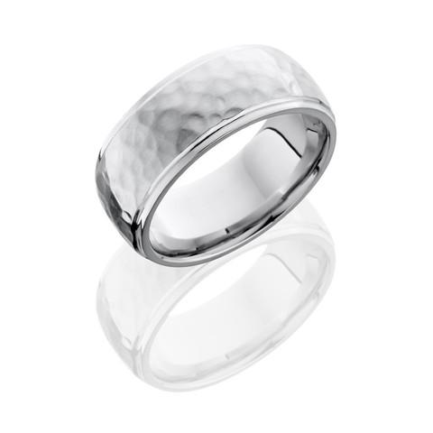 Hammer Polished Cobalt Chrome Ring