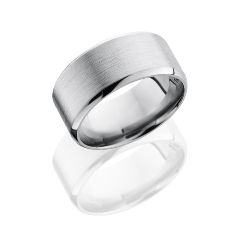 10 mm Titanium band with satin top and polished beveled edges