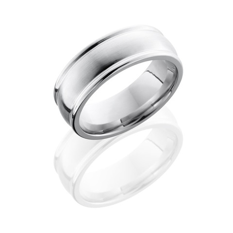 Cobalt Chrome 8 mm Domed Band with Rounded Edges