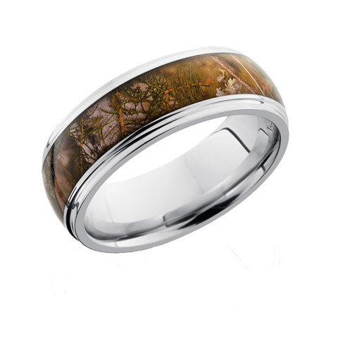 8 mm Grooved edge camo ring