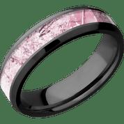 Thin Black Zirconium Camo Ring