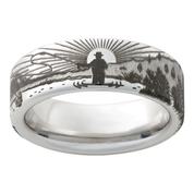 8mm Vitalium Sunrise Ring