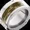 10mm Titanium Flat Band with Mossy Oak® Bottomland Inlay
