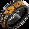 8mm Black Ceramic Pipe Cut Band with Mossy Oak Blaze Inlay