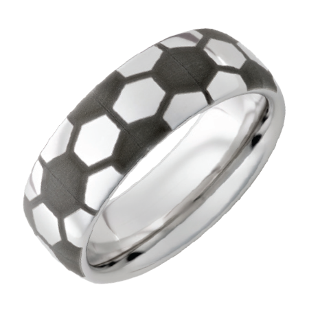 8mm Domed Serinium Soccer Ring