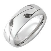 8mm Serinium Domed Band with Golf Club Laser Engraving