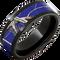 blue camo rings in black ceramic