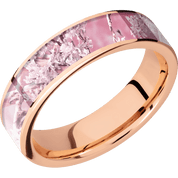 rose gold pink camo ring
