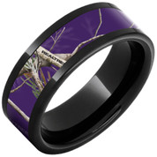 Black Ceramic Purple Camo Ring
