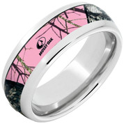 Mossy Oak Pink Camo Ring Domed Serinium