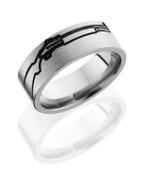 8mm Titanium Gun Wedding Ring
