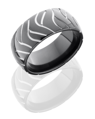 10mm Black Zirconium Two Toned Super Cycle Ring
