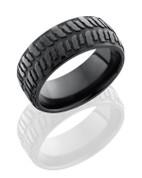 9mm Black Zirconium Bogger Tire Ring