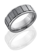 8mm Polished Gear Spinner Ring