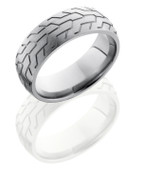 8mm Domed Satin Finish Motorcycle Tread Ring