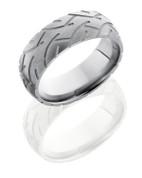 8mm Tire Tread Sandblasted Ring