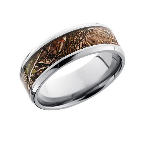 Beveled Edge Ring in King's Woodland Shadow Camo
