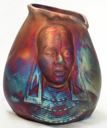 159 - African Woman Vase w/o  Hair
