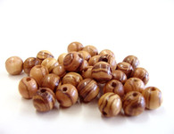 Olive Wood Round Beads 7-8mm (package contains 100 beads).