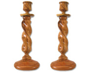 Olive Wood Candle Holders (9 inches in Height) 0503