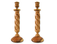 Olive Wood Candle Holders (9 inches in Height)