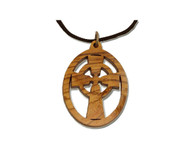 Olive Wood Celtic Cross Pendan (2 inches in Height)