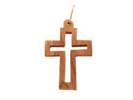 Olive Wood Cross Pendant.(1.4 inches in Height)