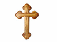 """Olive Wood """"The Cross Of The Fourteen Stations ™"""" (8 inches in Height)"""