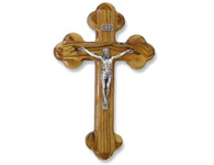 """Olive Wood """"The Cross Of The Fourteen Stations™"""" W/Crucifix. (8 inches in Height)"""