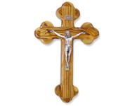 """Olive Wood """"The Cross Of The Fourteen Stations™"""" W/Crucifix. (10 inches in Height)"""
