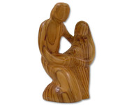 Olive Wood Loving Family ™ Sculpture (6.5 inches in Height)