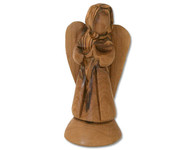 Olive Wood Angel Of Grace™ Miniature Sculpture (4 inches in Height)