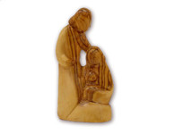 Olive Wood Away In A Manger Holy Family ™ Sculpture (5.6 inches in Height)