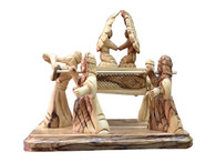 Olive Wood Ark of The Covenent Museum Quality Statue 8.3 inches in 'Width x 7 1/2 inches in Height