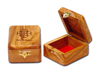 Olive Wood Jerusalem Cross Box (1.4 inches in Height)