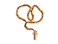 Olive Wood Round (5mm) String Rosary.(10 inches in Length)