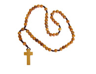 Olive Wood Round String Rosary (8.5mm)(13.5 inches in Length)