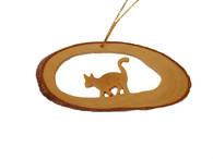 Olive Wood Ornament - Cat