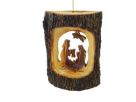 Olive Wood Nativity Ornament Or Table Top.