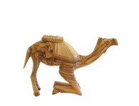 Olive Wood Kneeling Camel. (4 inches in Height)
