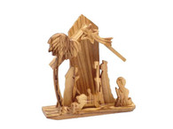 Olive Wood Christmas Tree Nativity (4.5 inches in Height)