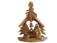 Olive Wood The House Of Christmas ™ (5 inches in Height)