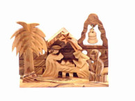 Olive Wood Christmas Village ™ (3 inches in Height)