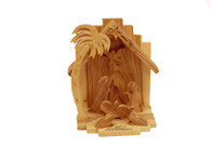 Olive Wood Guardian Angel Nativity™ (4 inches in Height)