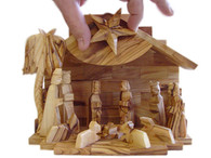 Olive Wood Silent Night Musical Nativity™ (7 inche in Height)