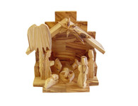Olive Wood Nativity Angel Glory Nativity.(4.5 inches in Height)