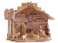 Olive Wood Glory Nativity ™ (7 inches in Height)