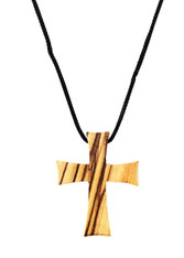 Olive Wood Cross Pendant. (1.5 inches Height) WA-38