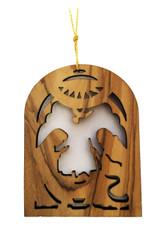 Bethlehem Olive Wood Nativity Ornament (LZO-112)