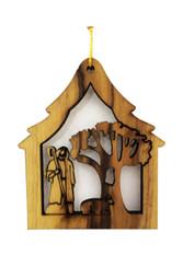 Bethlehem Olive Wood Shepherd Ornament (LZO-115)